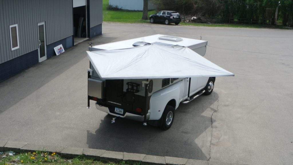 The BunduHalf Wing Fold-out Awning – Truck Camper Adventure