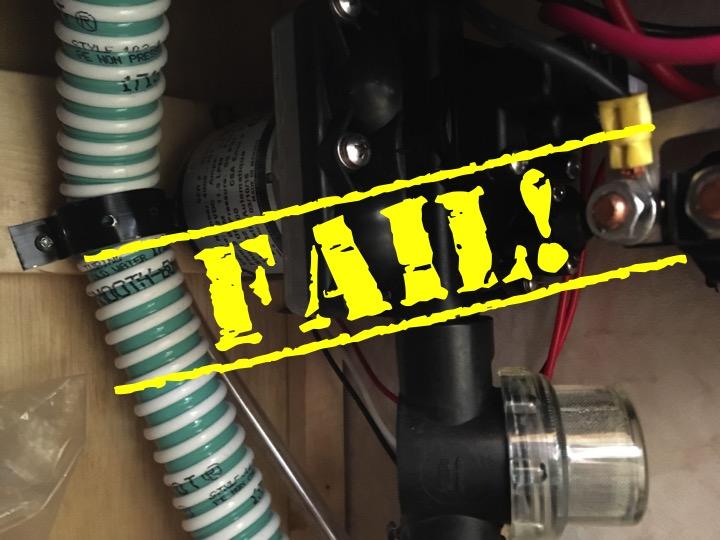 RV Water Pump Fail - Truck Camper Adventure